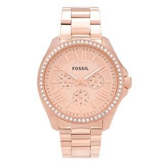 Fossil Women's AM4483 'Cecile' Rose Goldtone Stainless Steel Multifunction Link Bracelet Watch