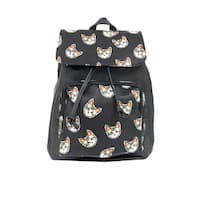 Alfa Pop Art Flap-over Cat Faces Fashion Backpack