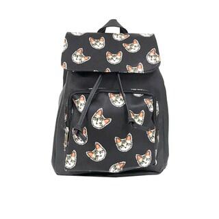 Alfa Pop Art Flap-over Cat Faces Fashion Backpack