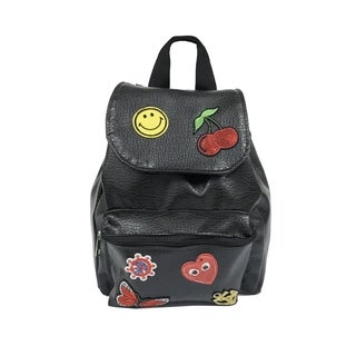 Alfa Pop Art Flap Over Patches Fashion Backpack