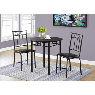 Porch & Den Cheswick Black Metal 3-Piece Bistro Dining Set