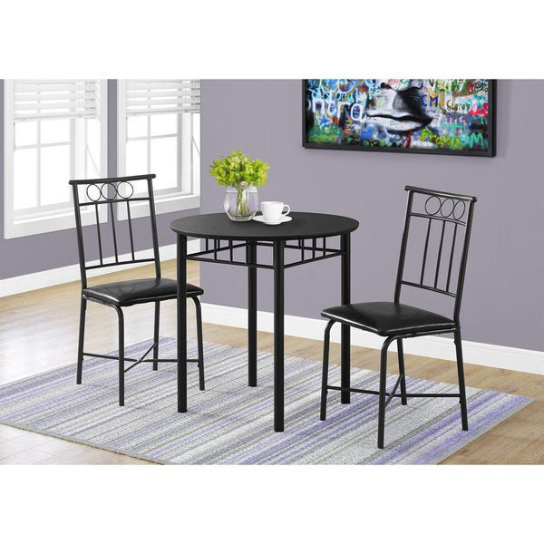 Delicieux Shop Porch U0026 Den Cheswick Black Metal 3 Piece Bistro Dining Set   Free  Shipping Today   Overstock   21804716