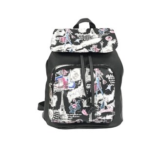Alfa Pop Art Paris Flap-over Fashion Backpack