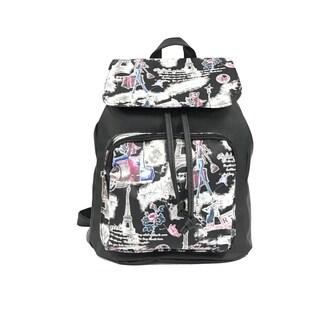Alfa Pop Art Paris Flap-over Fashion Backpack