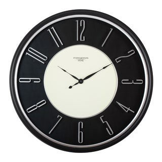 "Studio Designs Home 29"" Modern Raised Numeral Wall Clock"