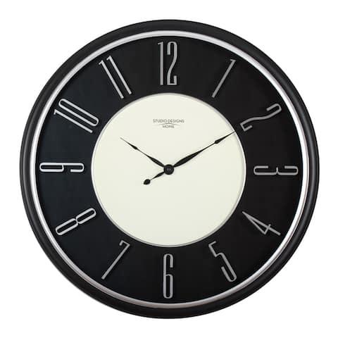 "Studio Designs Home 29"" Modern Raised Numeral Wall Clock"