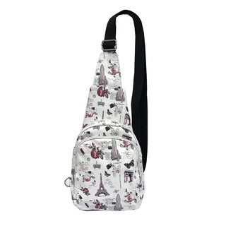 ALFA Pop Art Eiffel Tower White Fashion Sling Strap Backpack