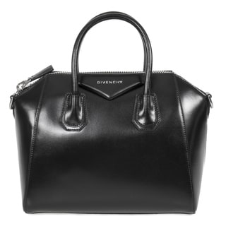 Givenchy Antigona Small Black with Silver Hardware Leather Satchel Handbag