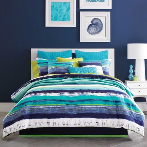 Five Queens Court Cameron Teal Cotton Comforter Set