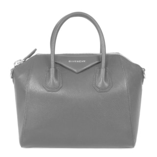 Givenchy Antigona Small Matte Black with Silver Hardware Sugar Goatskin Leather Satchel Handbag