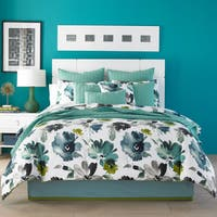Five Queens Court Mia Teal Cotton Comforter Set