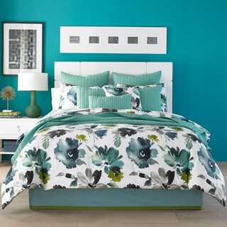 Five Queens Court Mia Teal Cotton Comforter Set