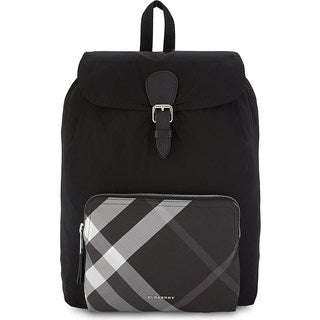 Burberry Black Nylon Packable Backpack
