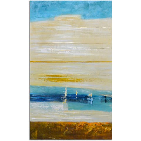 Omax Decor 'In the Life' Hand-painted Original Canvas Oil Painting
