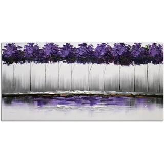 Omax Decor 'Twilight's Plum-rose Forest' Original Canvas Oil Painting https://ak1.ostkcdn.com/images/products/14651153/P21188989.jpg?impolicy=medium