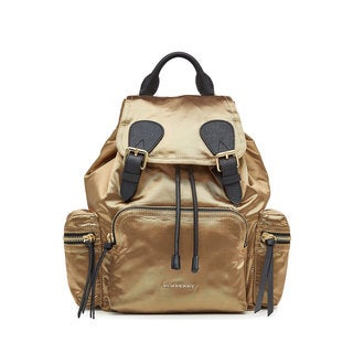 Burberry Women's Gold Satin Rucksack Fashion Backpack