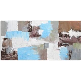 Omax Decor Urban Reflections Canvas Hand-stretched Original Oil Painting