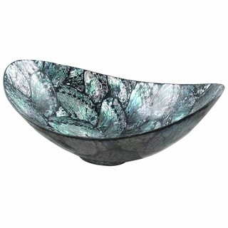 Handmade Shimmering Shells Oval Bowl (Indonesia)