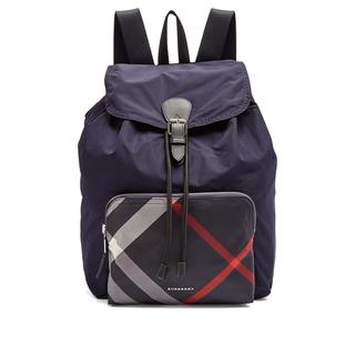 Burberry Navy Nylon Packable Backpack