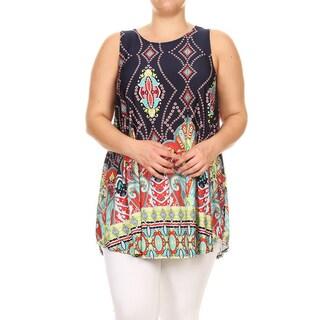Women's Plus-size Multicolor Paisley Tunic