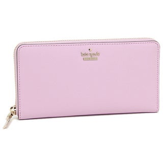 Kate Spade New York Cameron Street Lacey Lilac Cream Leather Wallet