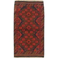 ecarpetgallery Hand-knotted Kazak Red Wool Rug (3'6 x 6'7)
