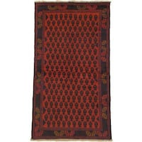 ecarpetgallery Hand-knotted Herati Red Wool Rug (3'4 x 6')