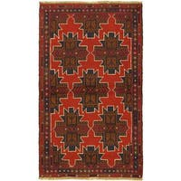 ecarpetgallery Hand-knotted Kazak Red Wool Rug (3'6 x 6')