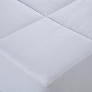 CottonLux 500 Thread Count Cotton Mattress Pad - White