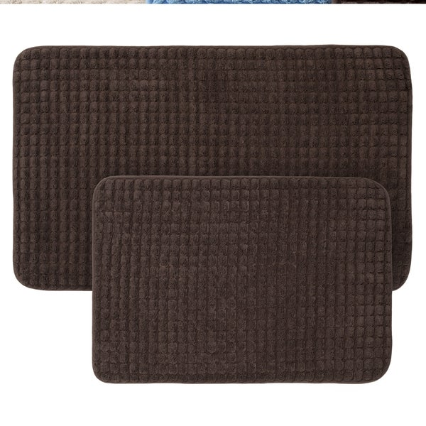 2-Piece Memory Foam Bath Mat Set by Windsor Home - see description