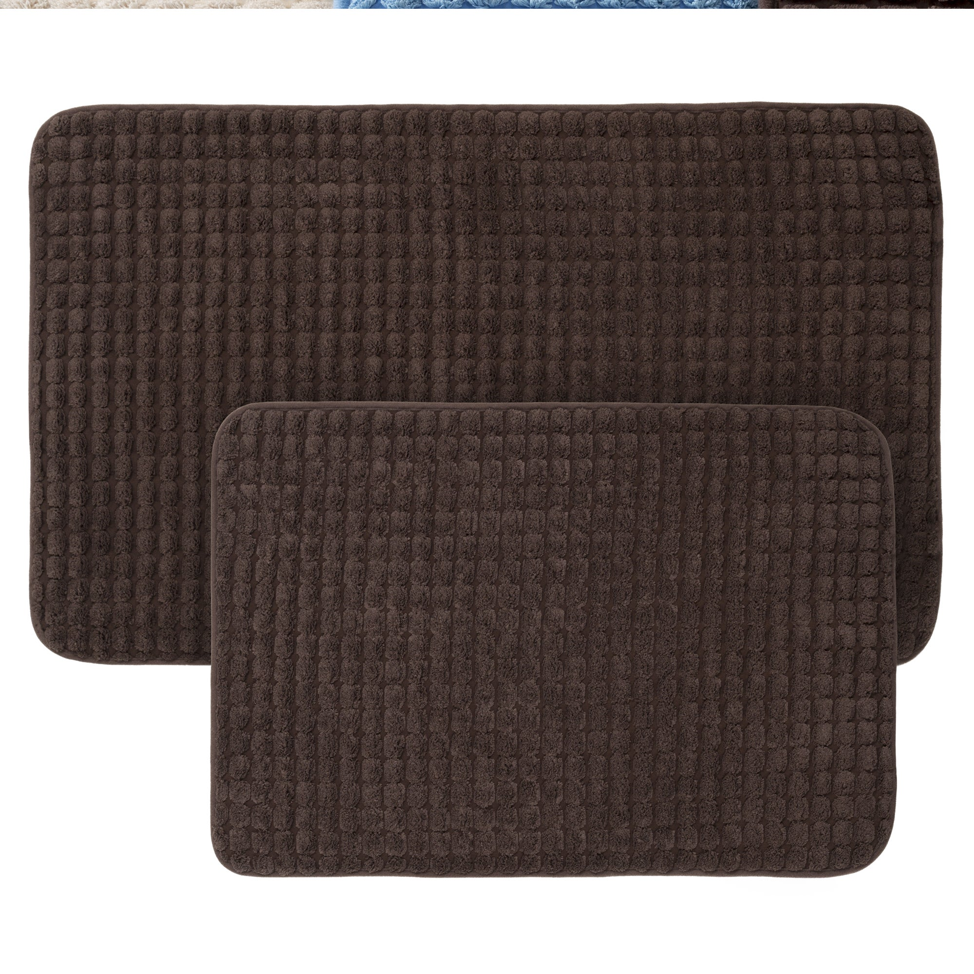 2-Piece Memory Foam Bath Mat Set by Windsor Home (Navy), ...