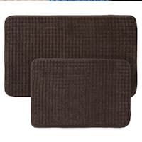 2-Piece Memory Foam Bath Mat Set by Windsor Home