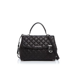Michael Kors Ava Black Leather Satchel Handbag