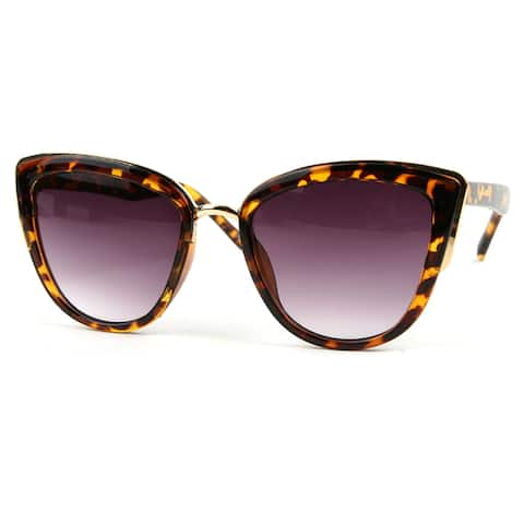 Pop Fashionwear Women's Retro Plastic Cat Eye Sunglasses