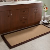 Memory Foam Bathmat Oversized Padded Nonslip Rug by Windsor Home