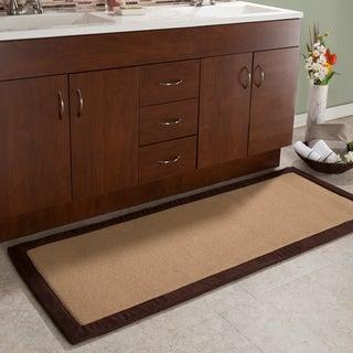 Memory Foam Bathmat Oversized Padded Nonslip Rug by Windsor Home