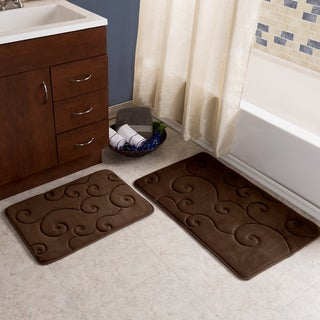 2 Piece Memory Foam Bath Mat Set by Windsor Home