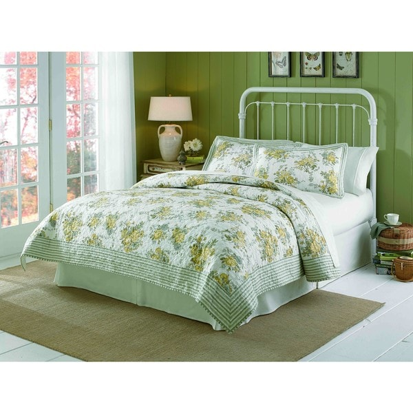 Peking Handicraft Spring Garden Cotton 3 Piece Quilt Set