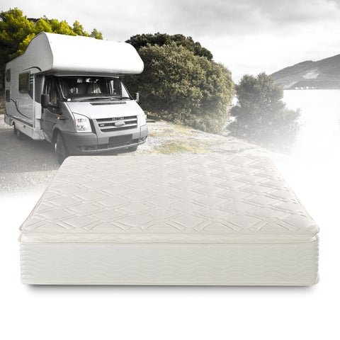 Priage Deluxe Short Queen-size Pillowtop Pocketed Spring RV Mattress