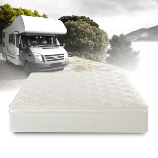 Priage Deluxe Short Queen-size Pillow Top Pocketed Spring RV Mattress