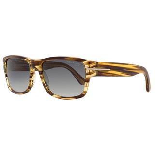 Tom Ford Brown Plastic Rectangular Sunglasses