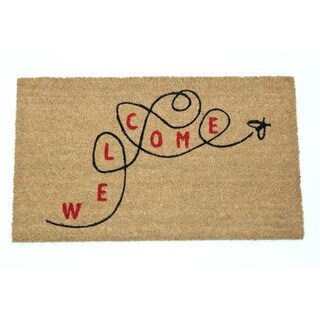 Welcome Bee Coir 17x29 Door Mat
