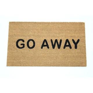 'Go Away' Natural Coir 17-inch x 29-inch Doormat