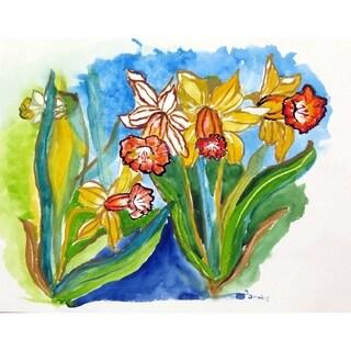 Betsy Drake Daffodils Floor Mat (30x50)