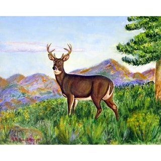 Betsy Drake Deer in Mountains 30-inch x 50-inch Door Mat