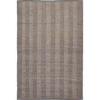 ecarpetgallery Hand-woven Natural Plush Grey Wool Kilim Rug (2'11 x 4'11)