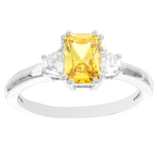 H Star Sterling Silver Yellow and White Diamagem Ring