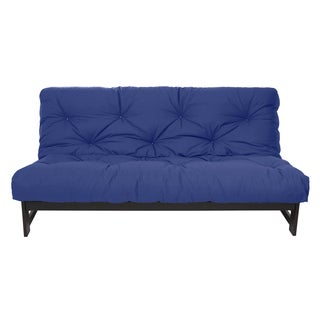 Full Size Blue 10-inch Dual Gel Futon Mattress