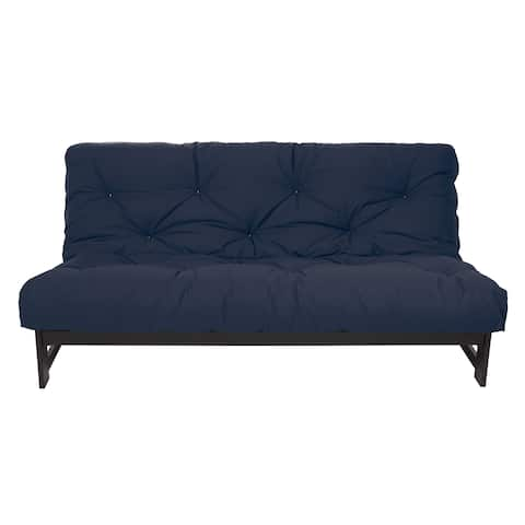 Full Size Navy 10-inch Dual Gel Futon Mattress