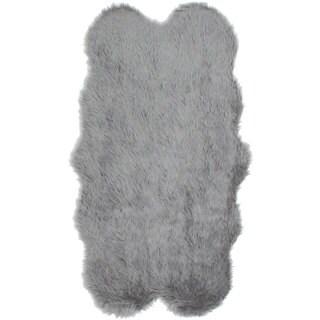 ecarpetgallery Polara Grey Acrylic Faux Fur Rug (3'2 x 5'9)